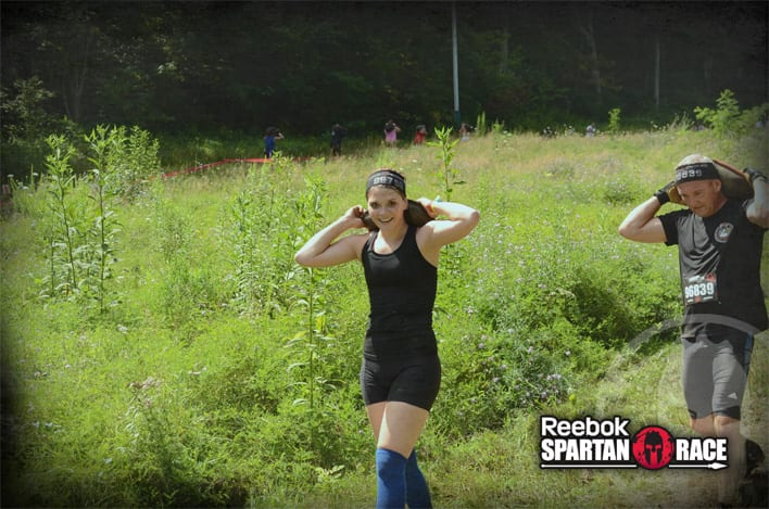 Kaitlin carries in the Spartan Super
