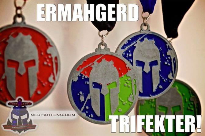 Additional Spartan Race finisher medals