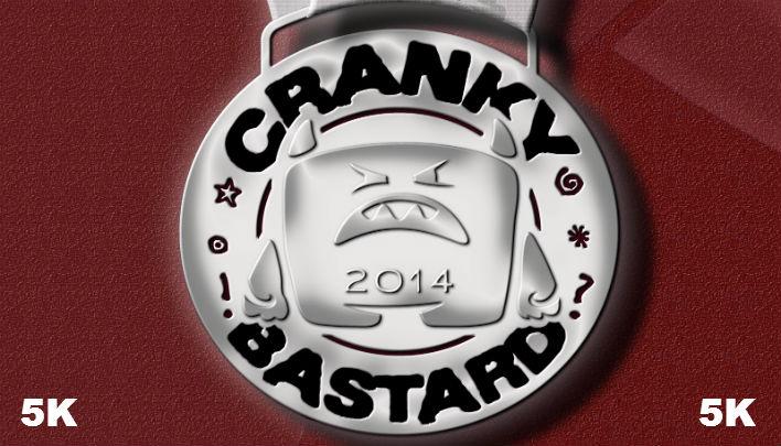 2014 Cranky Bastard Virtual Race Medal