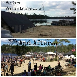 The Ft. Bragg Spartan Sprint venue before and after volunteer work