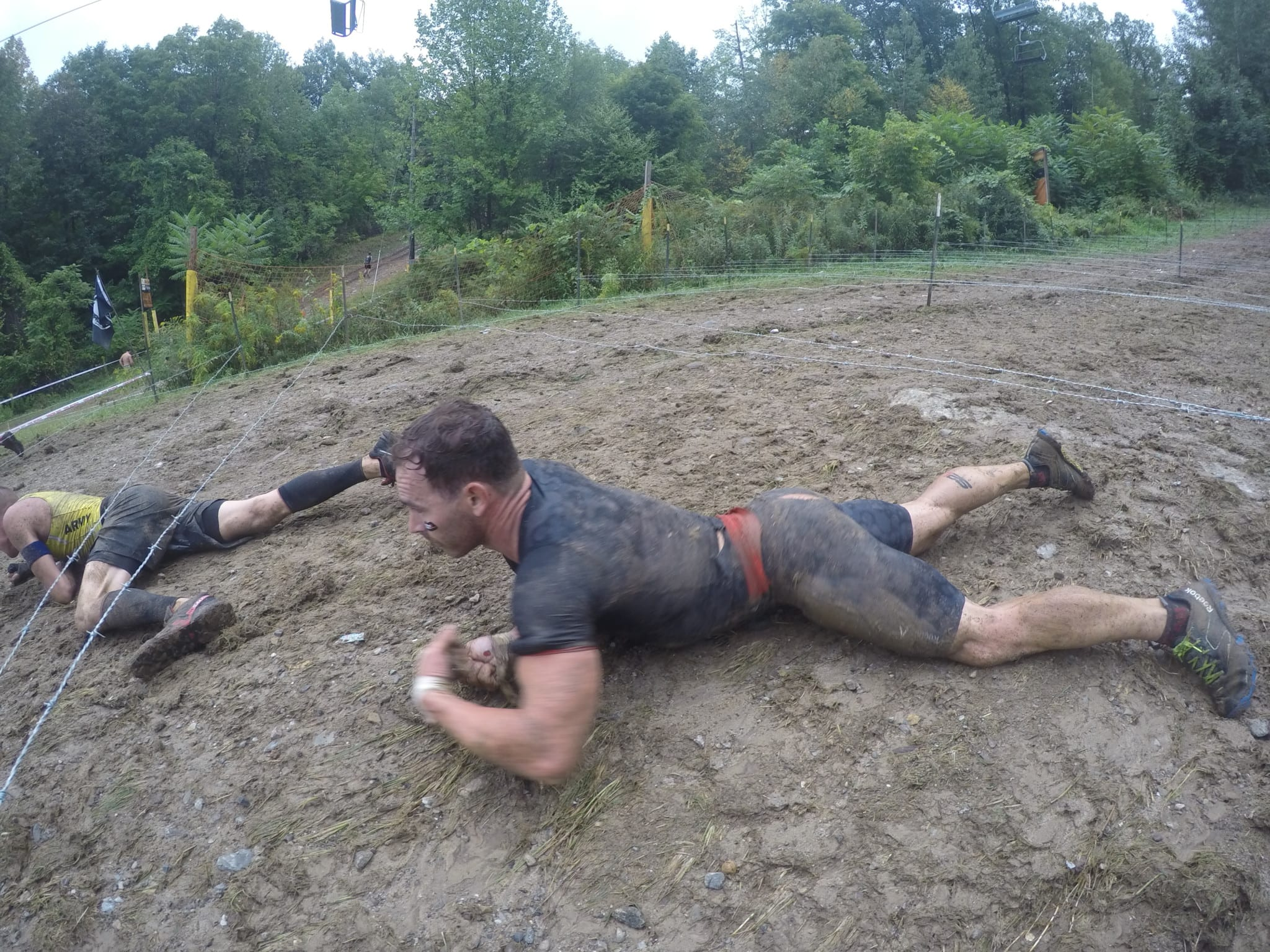 Spartan Barbed Wire Crawl.