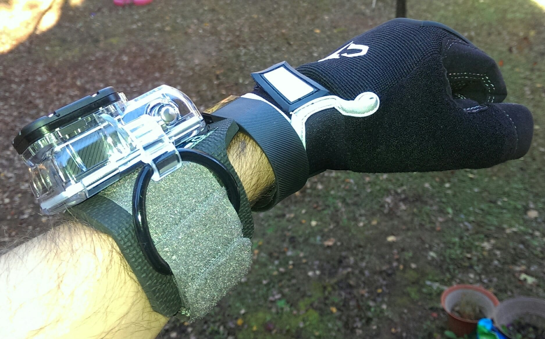 GoPro Wrist Housing In Use