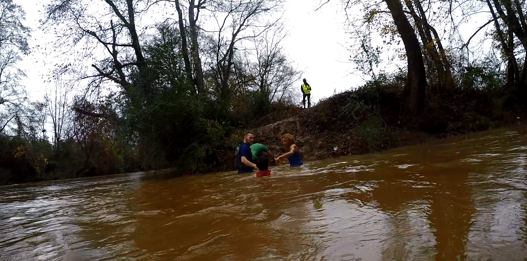 Swimming Up The Tallapoosa River at Battle Frog