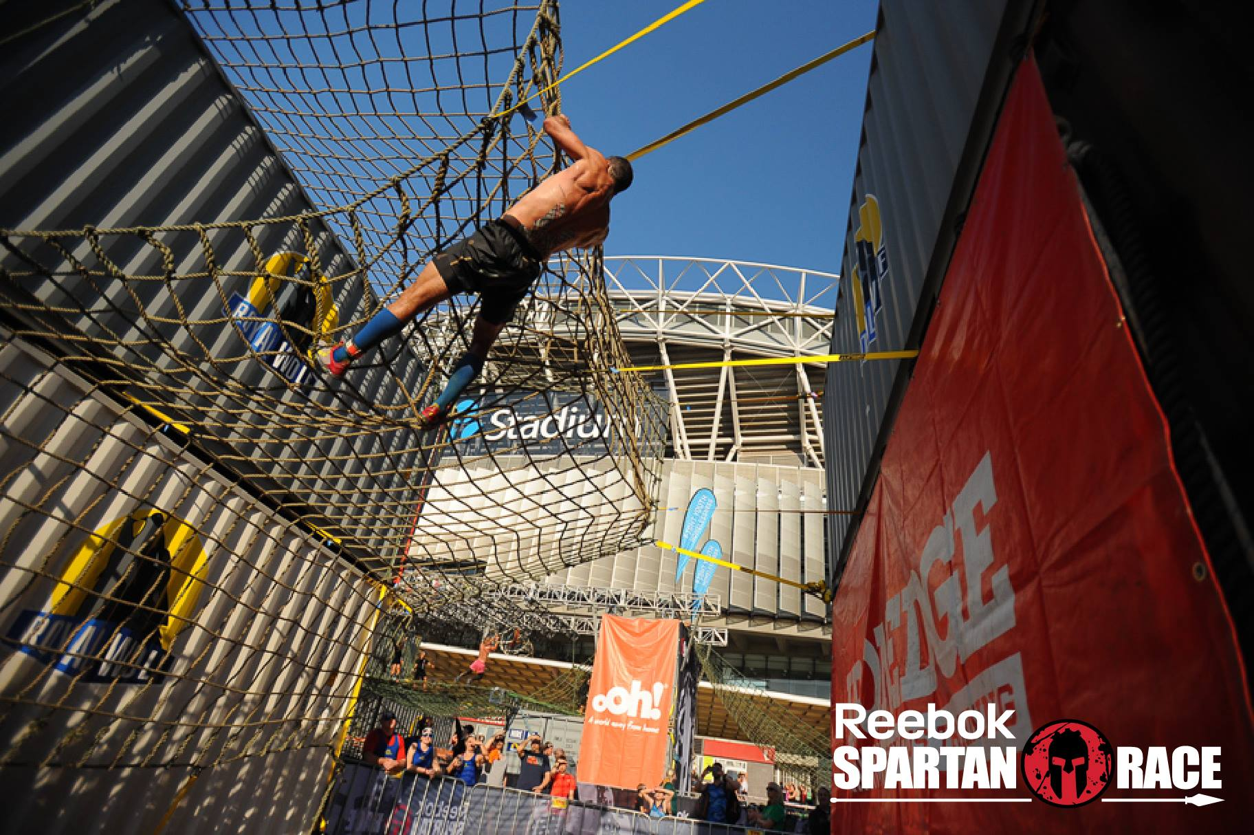 The Spartan 300 has 12 to 15 obstacles designed to test your all round strength, fitness and agility.