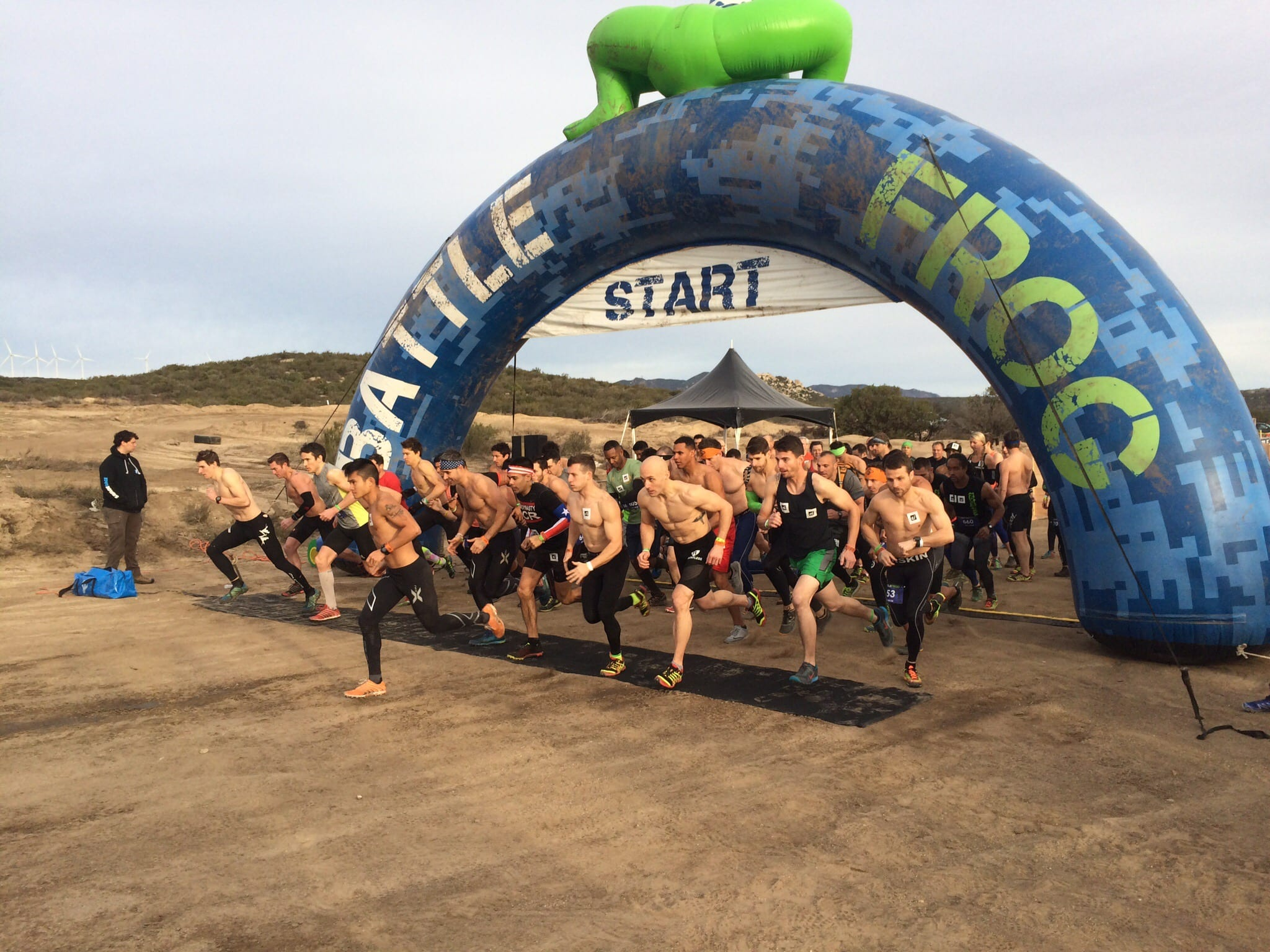 BattleFrog Elite start San Diego Jan 2016