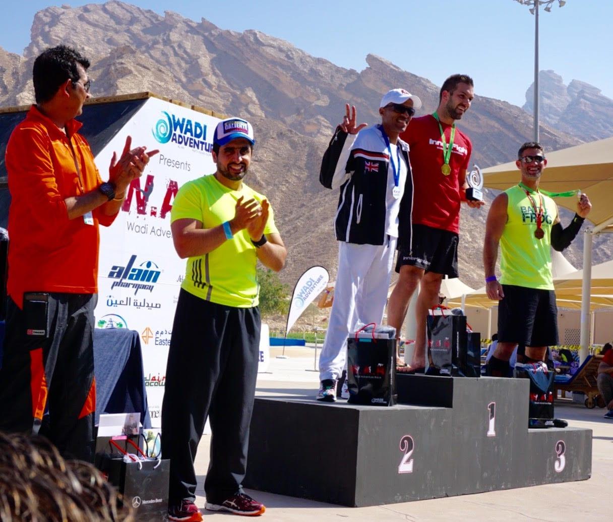 Wadi Mens 10k Elite Podium and Sheikh Mohammed Al Maktoum