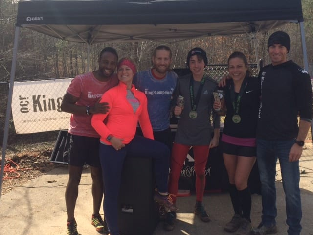 OCR King Compound Co-founders with Male and Female first place winners Chris Acuff and Rachel Watters