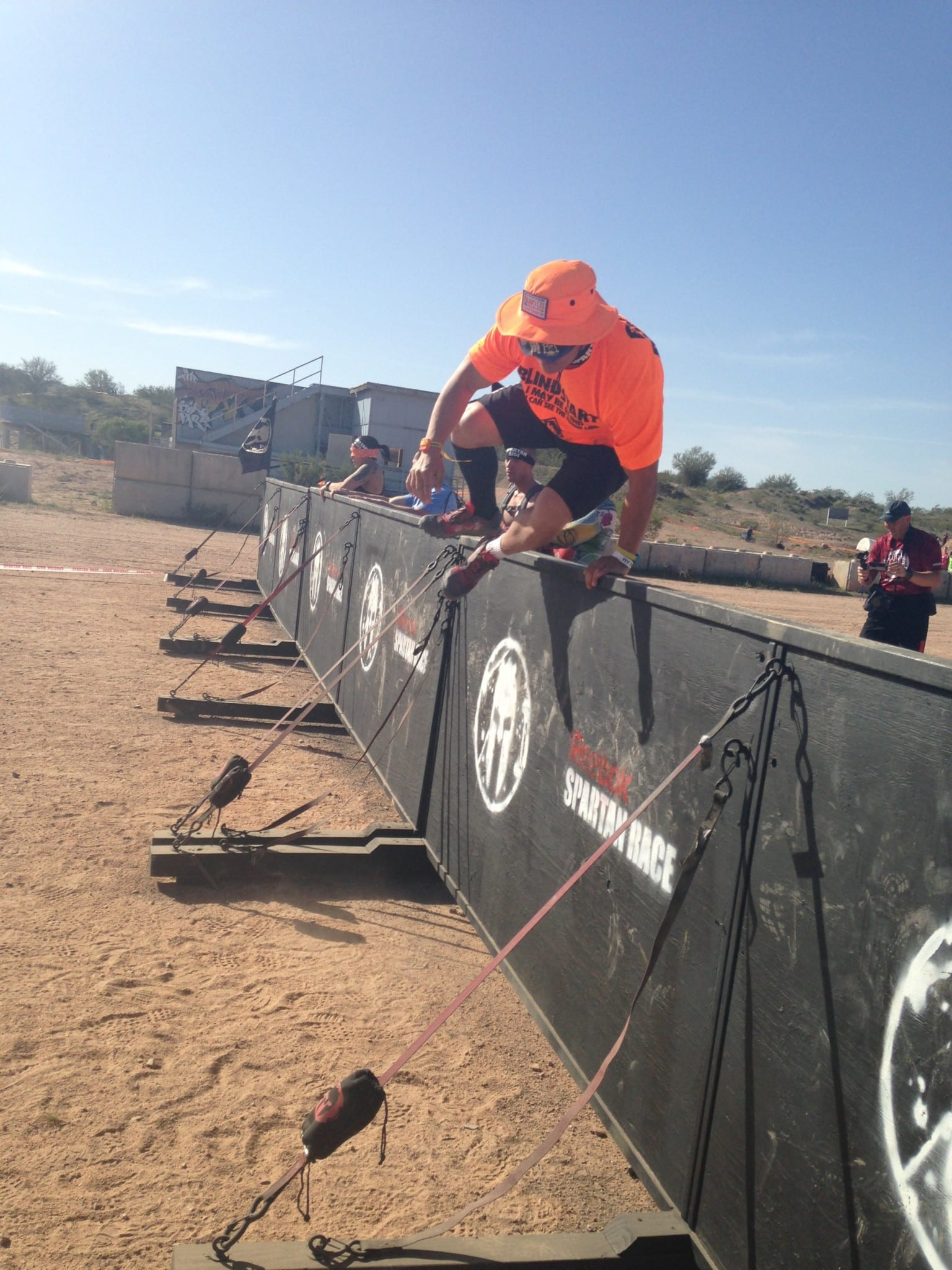 Spartan AZ Sprint Blindfolded Challenge Wall