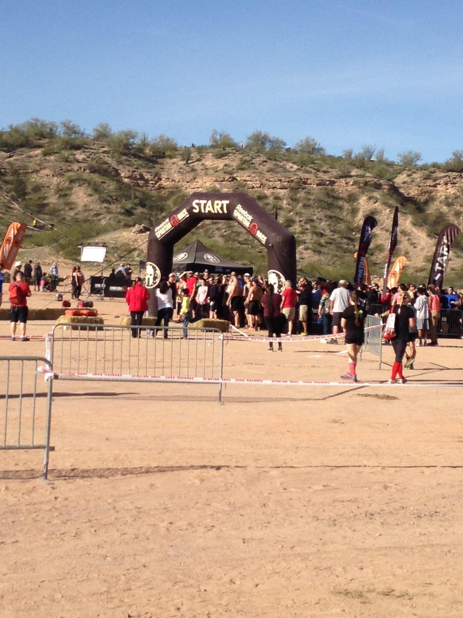 Arizona Spartan Sprint start line