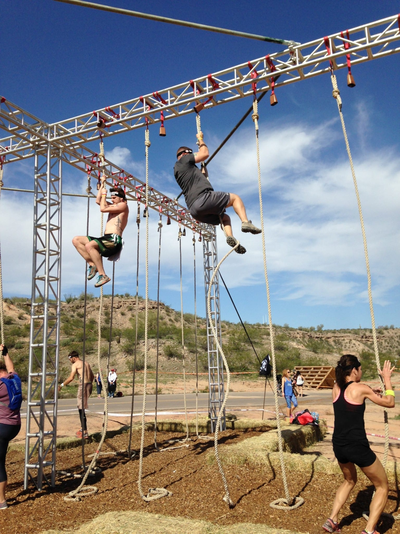 Spartan Arizona Rope climb