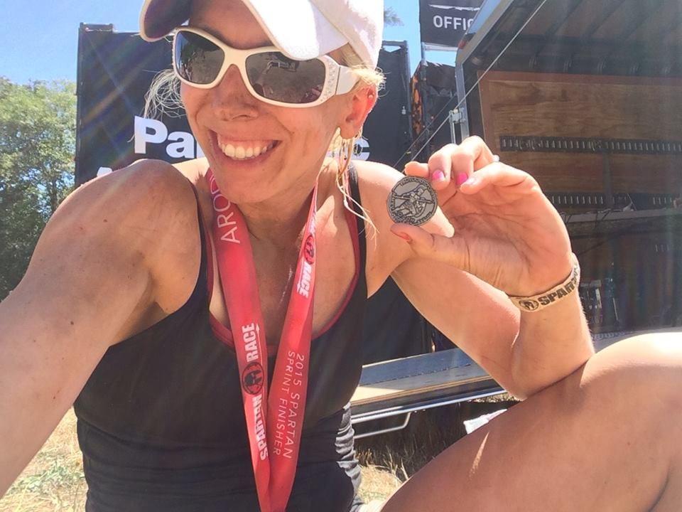 Sara Knight Spartan Race Coin