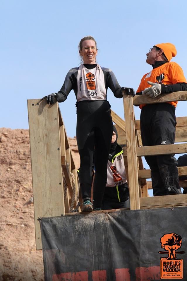 Sara Knight Worlds Toughest Mudder Jump