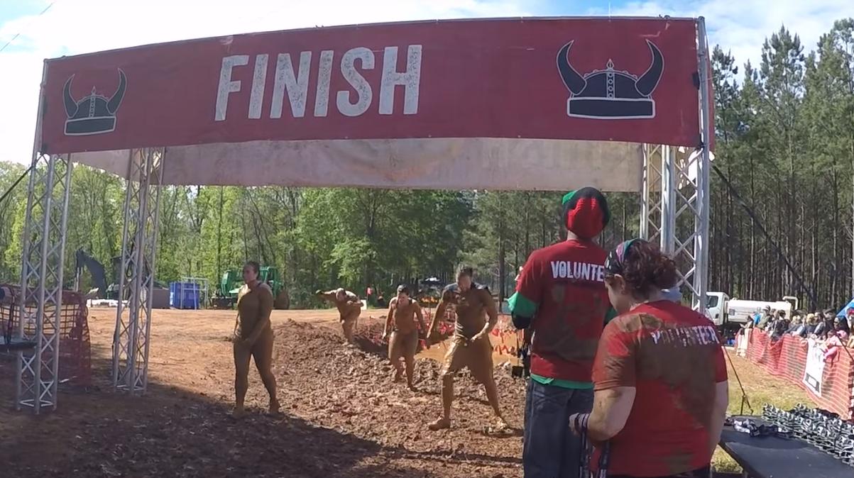 Warrior Dash Atlanta Finish Line and Medals