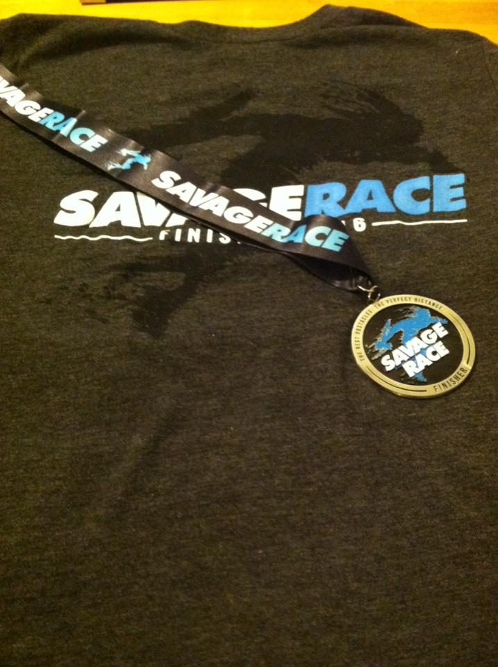 Savage-Race-Spring-2016-Shirt-and-Medal