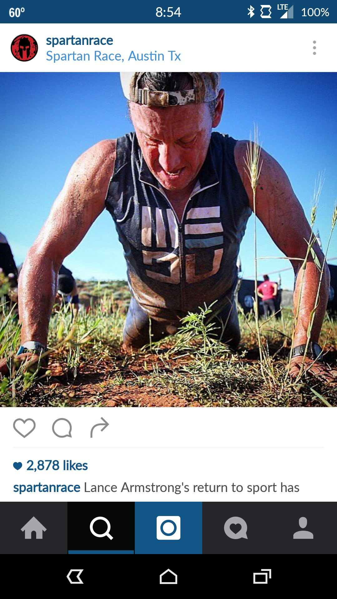 Lance Armstrong at the Austin Spartan Super