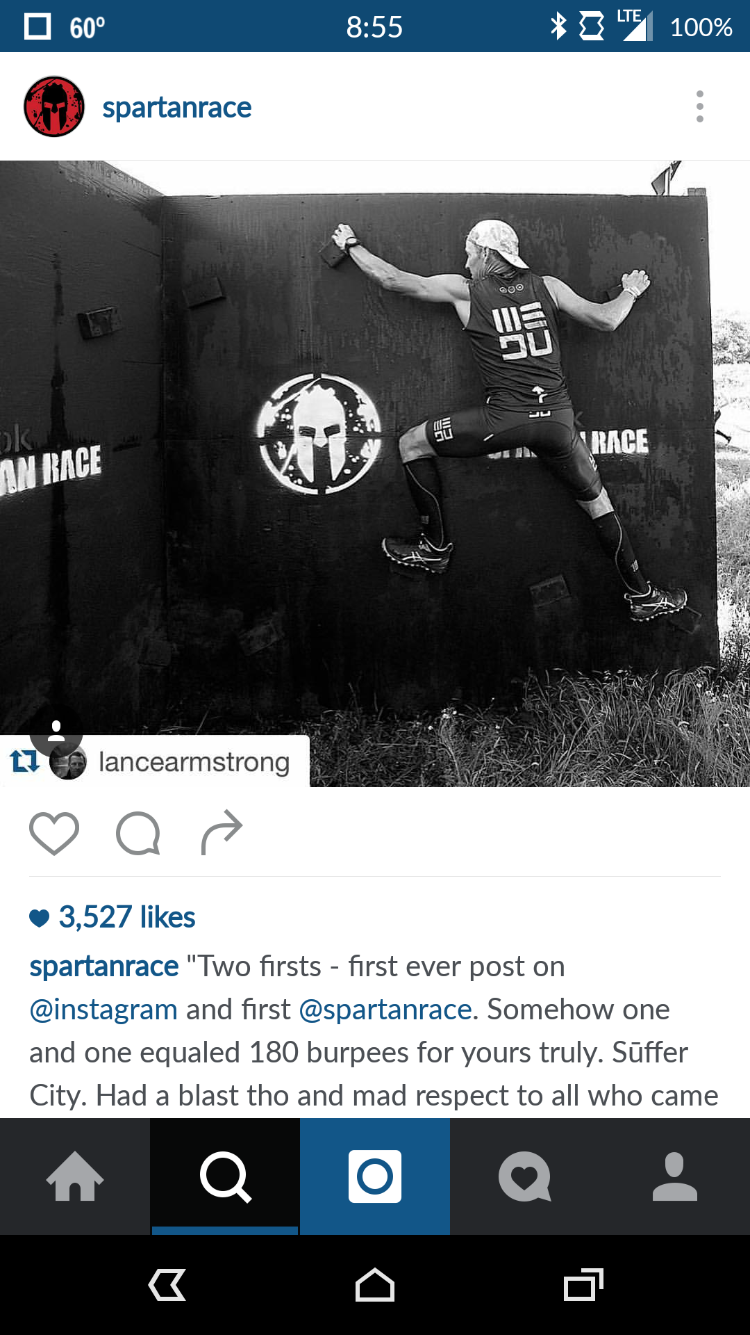 Lance Armstrong at the Z Wall