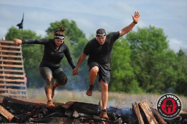 Spartan Sprint Fire jump