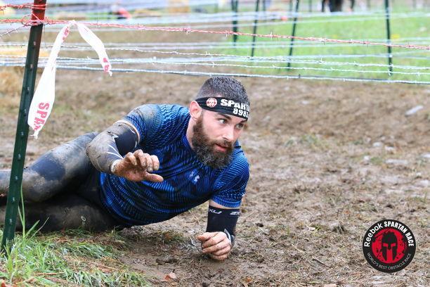 Spartan Race NJ Beast - Barbed Wire