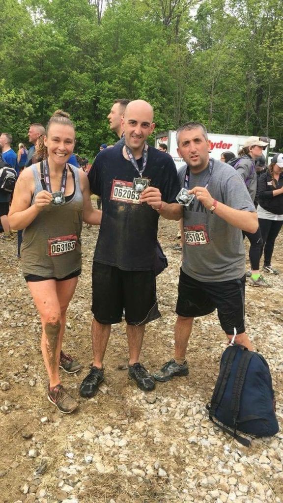 Muddy Warriors Post Race: Photo Courtesy Meghann Kinsella
