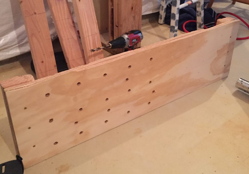 Drilling-the-holes-for-holds