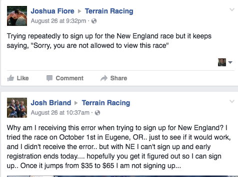 Terrain Racing New England Cancels