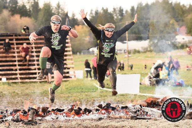 Spartan Race Snohomish - Fire Jump