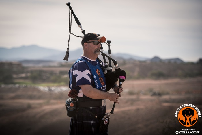 World's Toughest Mudder 2016-Bagpipes