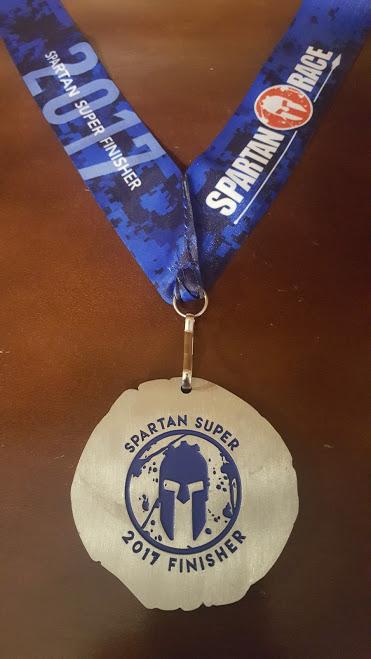Spartan Race - 2017 Super Medal Back
