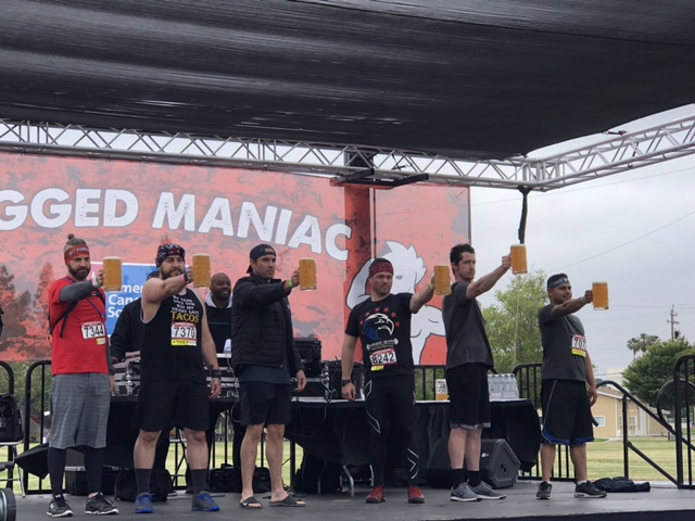 Rugged Maniac Beer Holding Contest