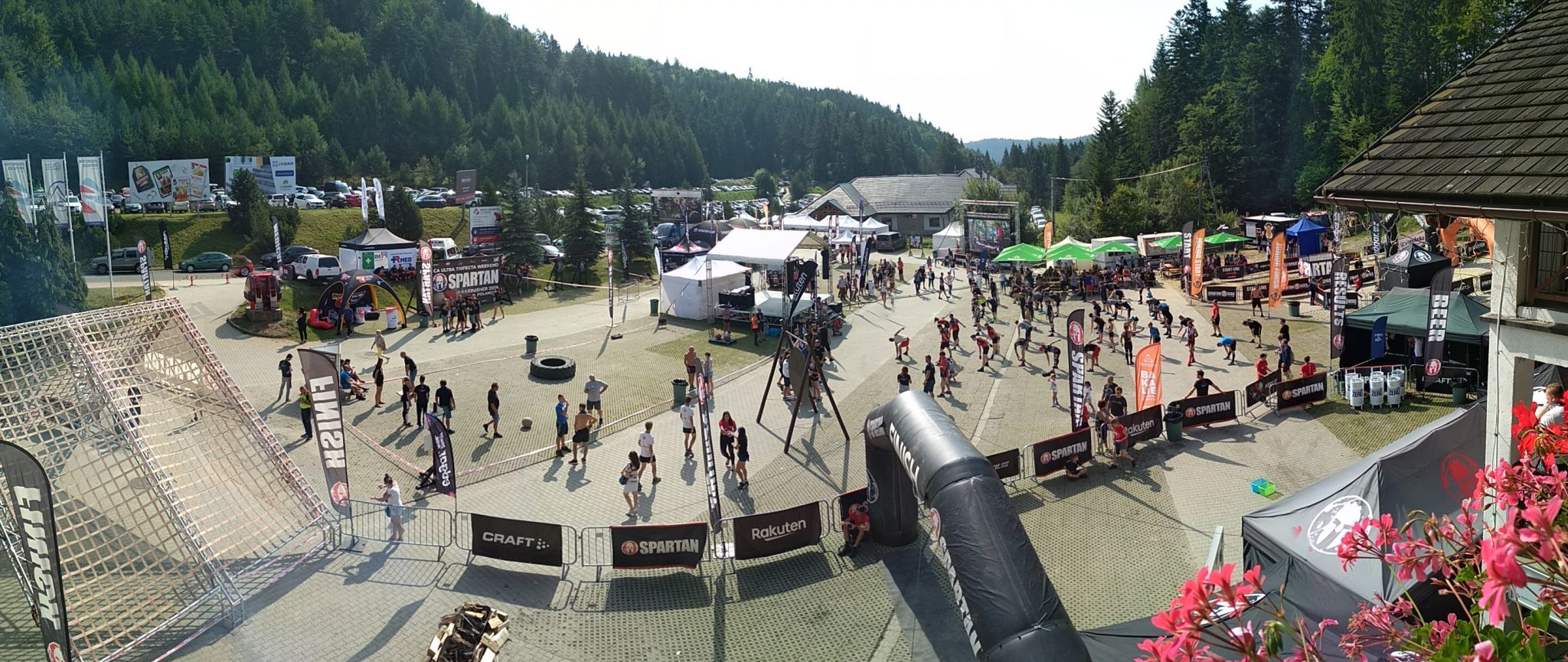 Spartan Krynica festival panoramic view