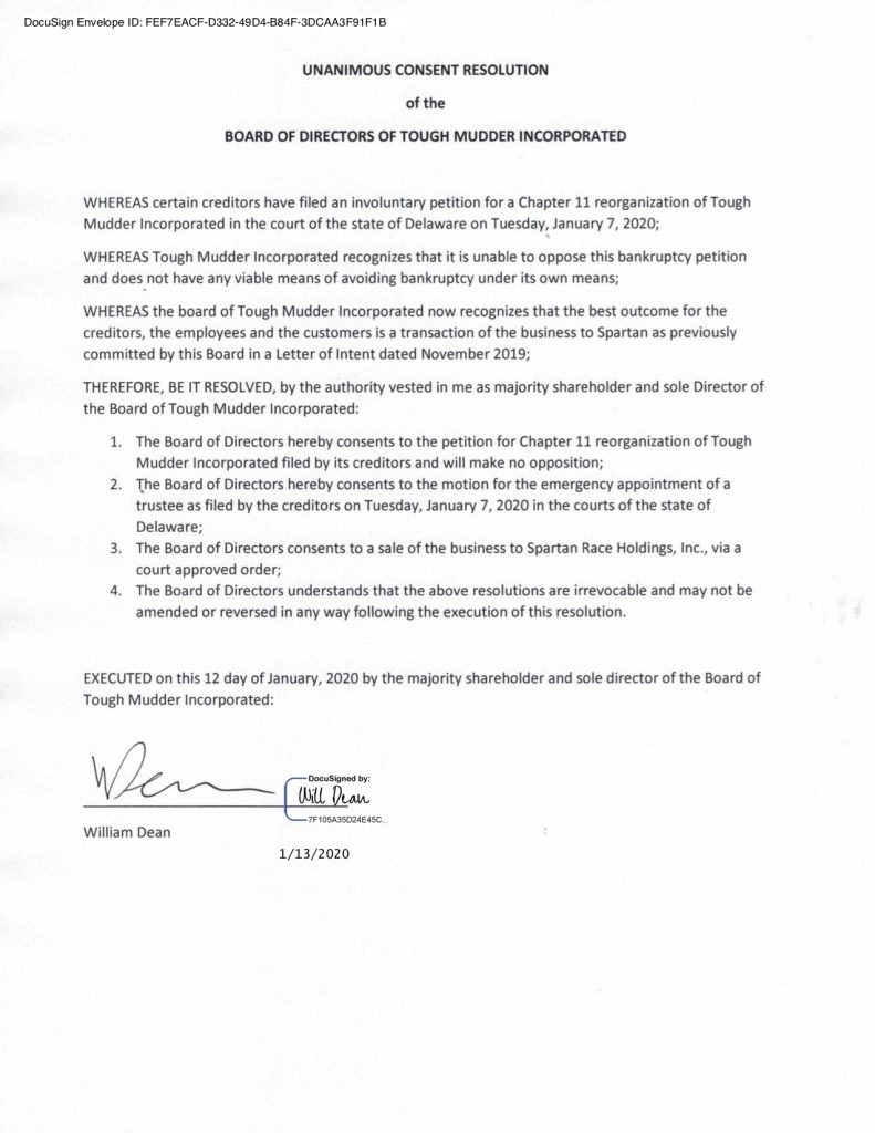 Will Dean Signs Letter Of Consent