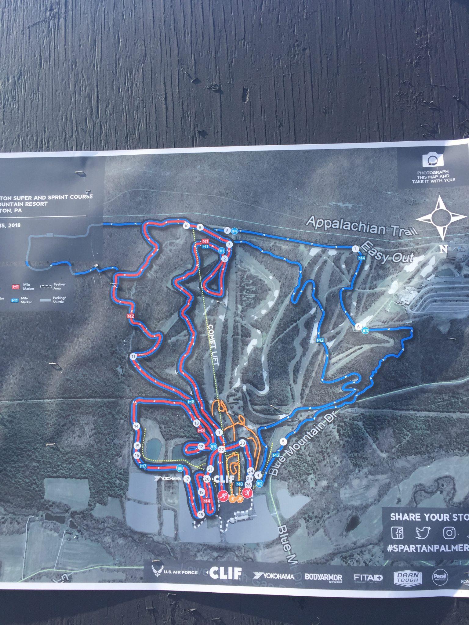 Spartan Palmerton Course Map